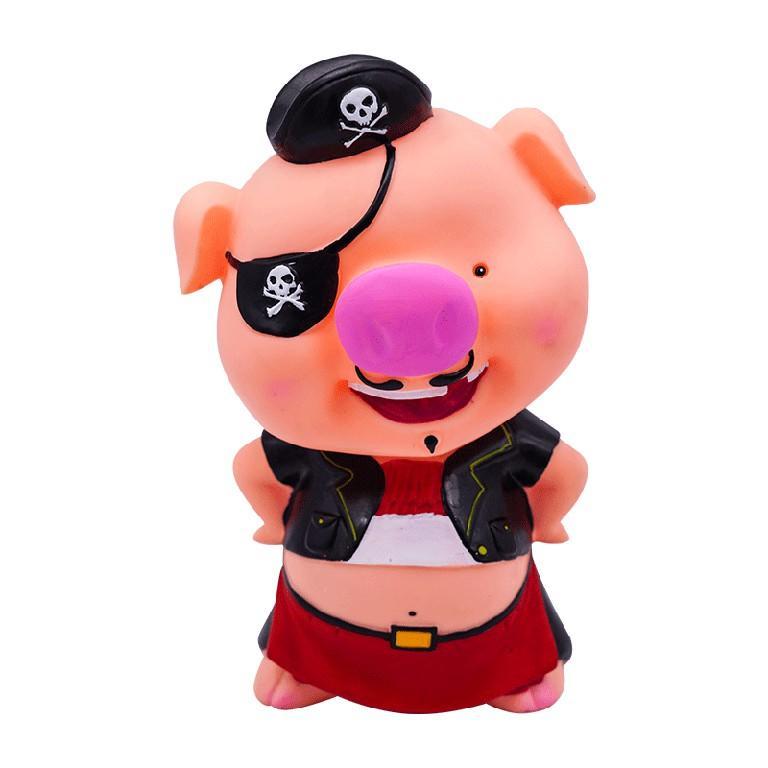 Custom Design Wholesale Cute Pig shape Pvc Plastic Piggy Bank For Kids
