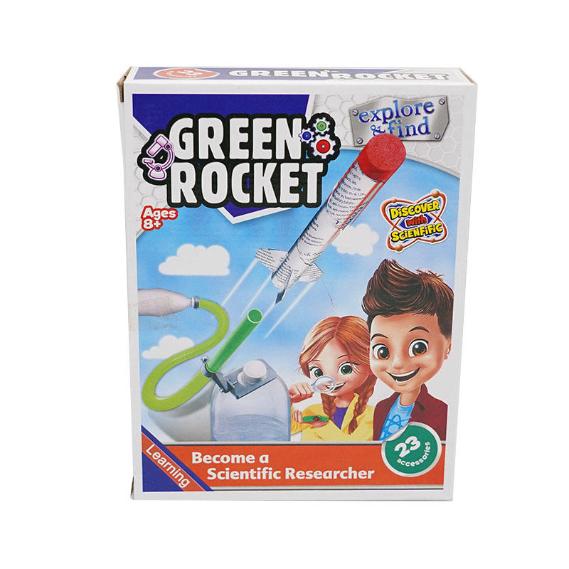 Science lab kit toy and education series DIY Green Rocket Toys For Kids