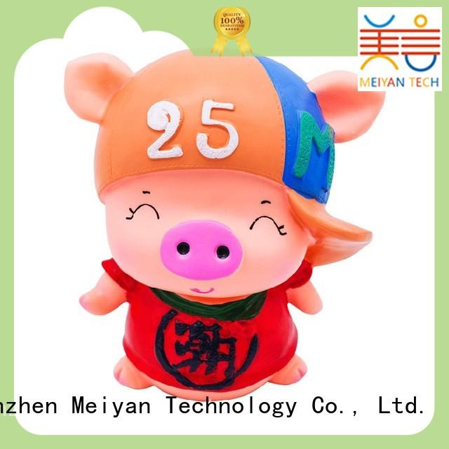 Meiyan plastic piggy banks directly sale for gifts
