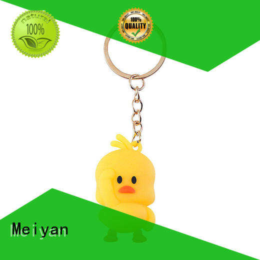 Meiyan safety personalized plastic keychains manufacturer for gifts