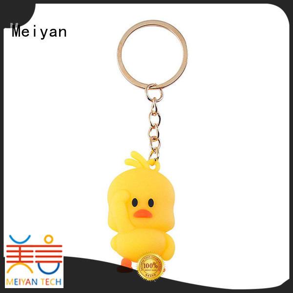Promotional personalized plastic keychains custom make pvc 3D duck keychain